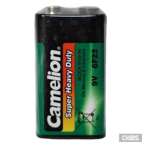 Батарейка 6F22 9V Camelion в пленке 1 шт