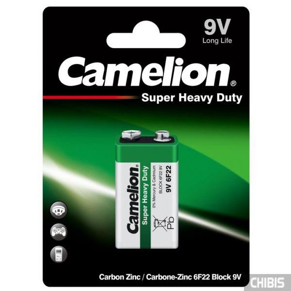 Батарейка Крона Camelion 6F22 марганцево-цинковая 9V блистер