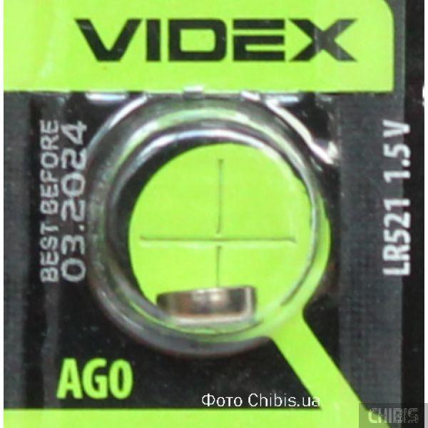 Батарейка Videx AG0 / LR521 1 шт
