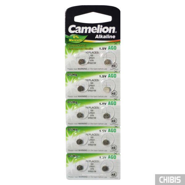 Батарейка для часов AG0 Camelion LR 521 1.5V 1/10 шт