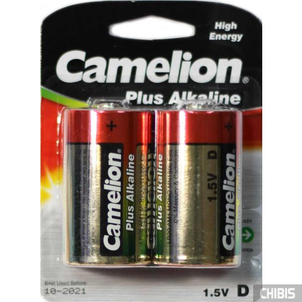 Батарейка D Camelion LR20, 1.5V, Alkaline упаковка на 2 шт 0873999000005