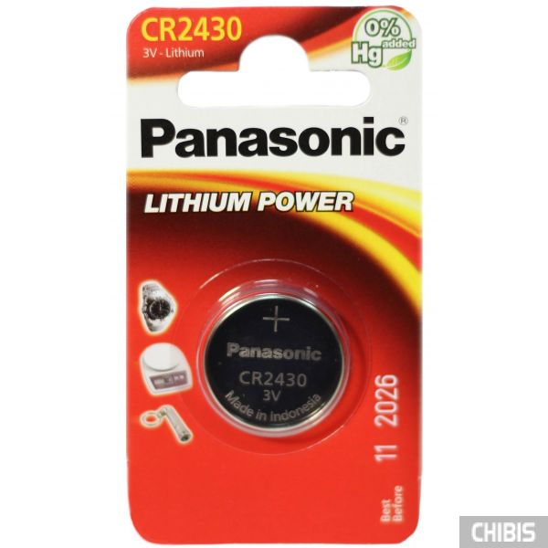 Батарейка 2430 Panasonic CR-2430EL/1B 3V Литиевая