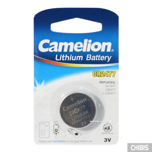 Батарейка CR2477 Camelion Lithium 3V блистер 1 шт