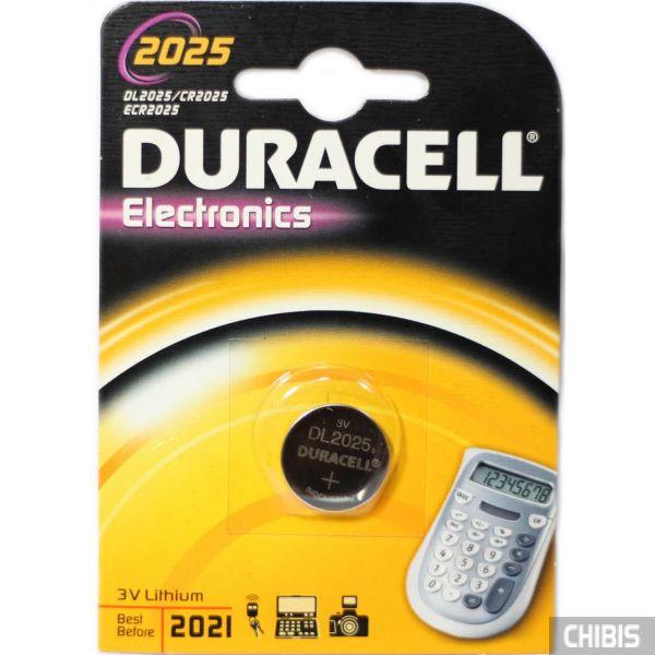 Батарейка Duracell 2025 блистер 1 шт