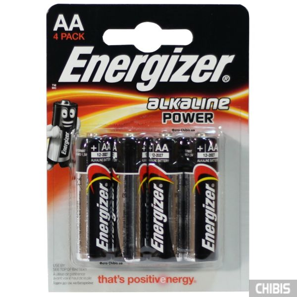 Батарейка АА Energizer Alkaline Power 1.5V 4/4 шт.