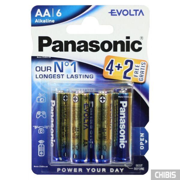 Батарейка АА Panasonic Evolta LR06 1.5V Alkaline 6 шт
