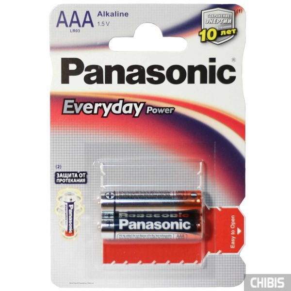 Батарейка Panasonic AAA Everyday Power LR06 1.5V alkaline бистер 2 шт