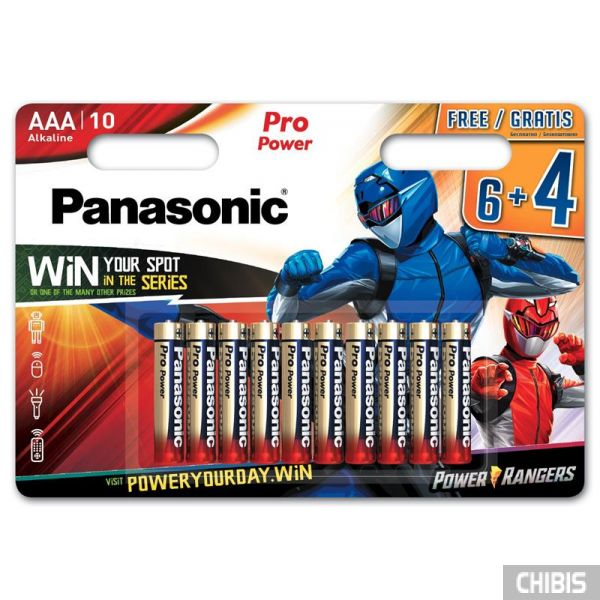 Батарейка Panasonic AAA Pro Power Alkaline 1.5V Power Rangers 10 шт.