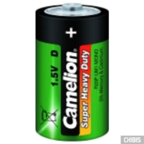 Батарейка R20 Camelion D 1.5V марганцево-цинковая пленка 1/2 шт.