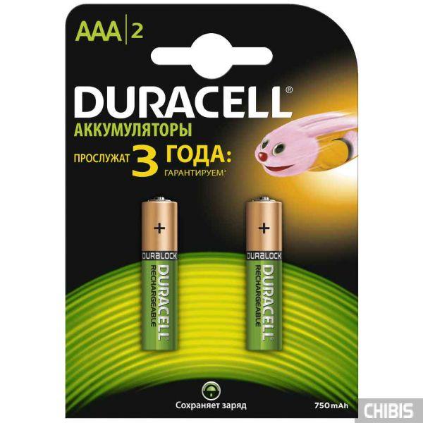 Аккумуляторные батарейки Duracell AAA 750 2шт.