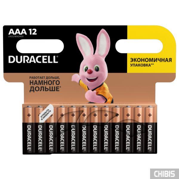 Батарейка ААА Duracell Basic 12 шт