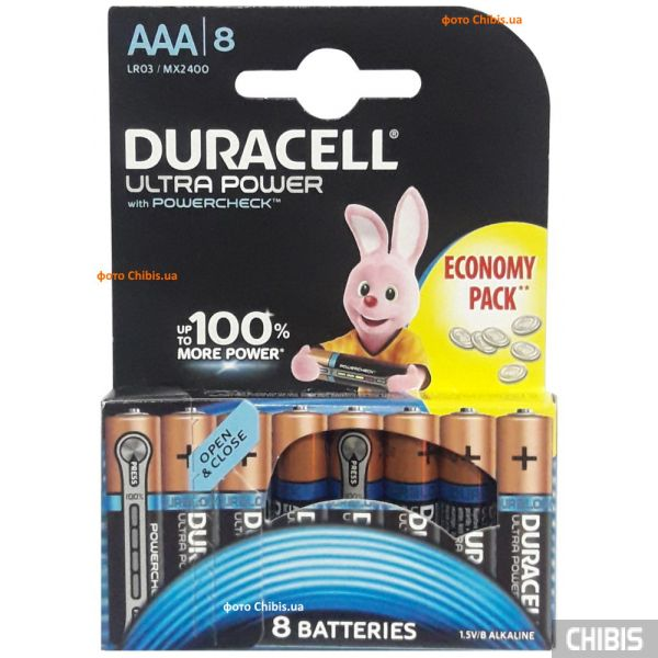 Duracell Ultra Power AAA LR03 1.5V Alkaline 8 шт.