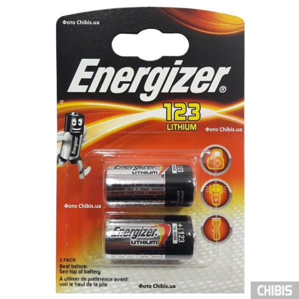 Energizer cr123a 3V Lithium Photo 2 шт.