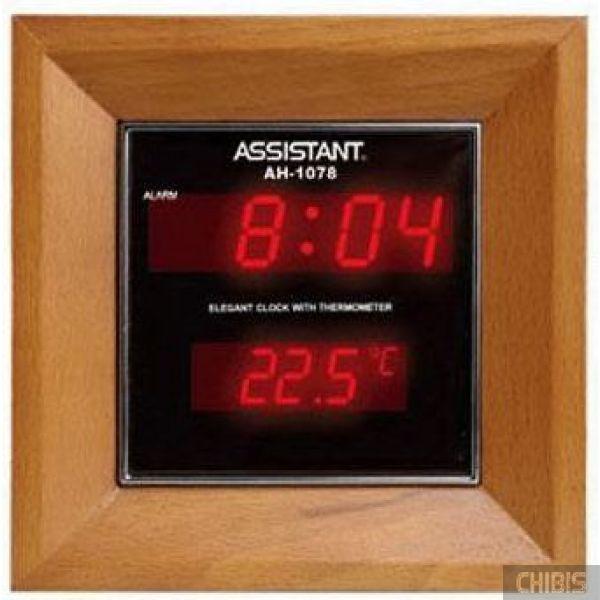 Настольные часы Assistant AH-1078 cherry/red