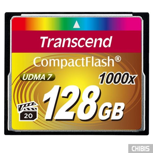 Карта памяти Transcend Compact Flash 1000x 128Gb