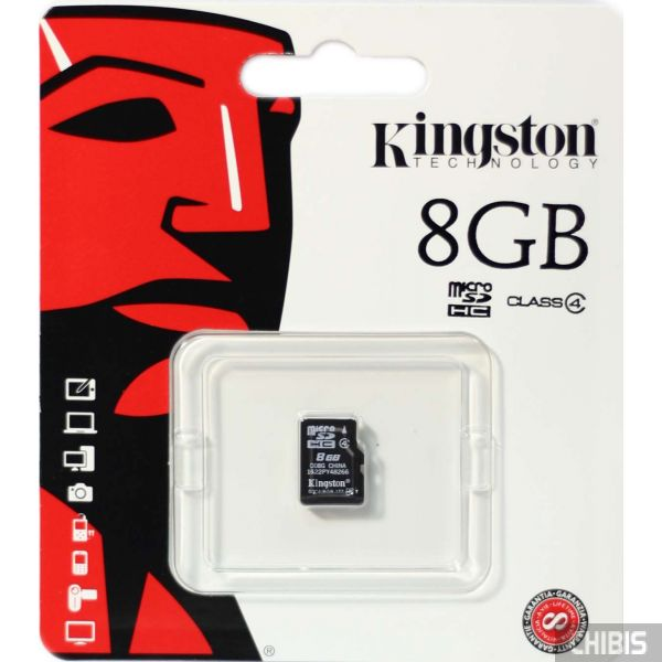 Карта памяти Kingston MicroSDHC 8 GB Class 4 no adapter