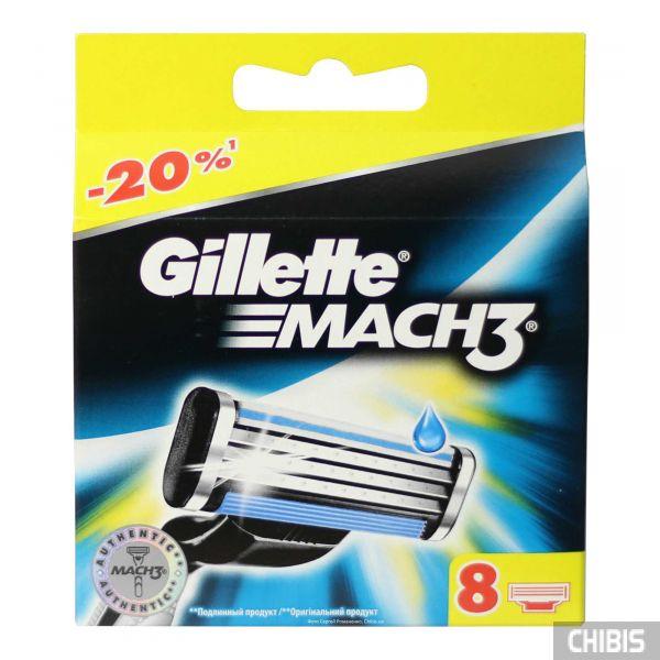 Gillette Mach3 лезвия для бритвы 8 шт. 3014260243548