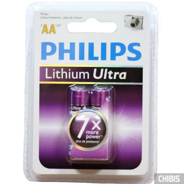 Батарейка АА Philips FR06 1.5V Lithium Ultra 1/2 шт.
