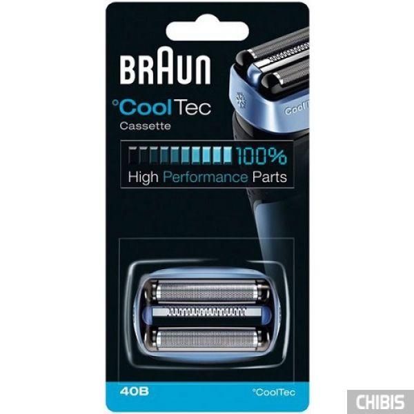 Кассета Braun серии Cooltec 40B, сетка + нож, блистер