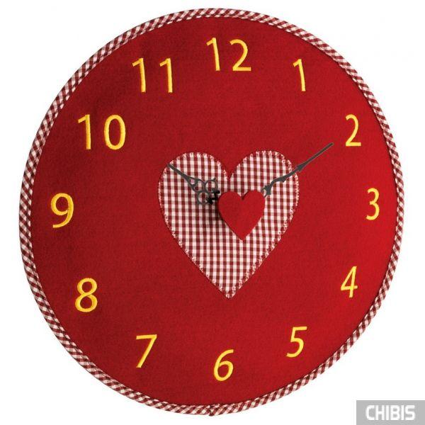 Часы настенные TFA 60302505 красный