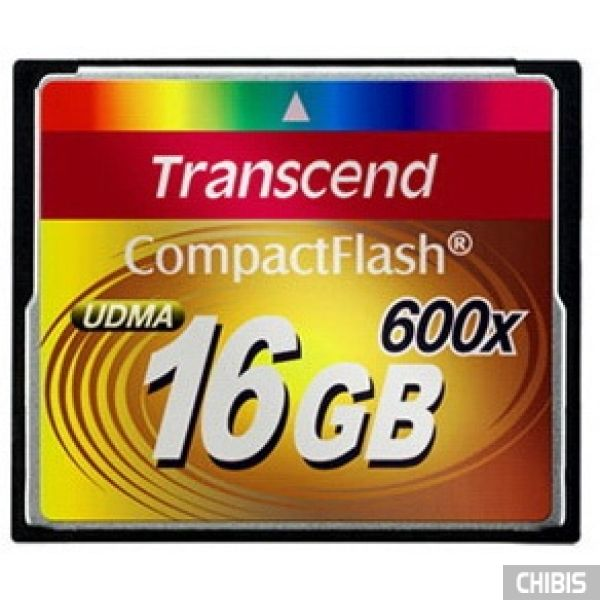 Карта памяти Transcend Compact Flash 600x 16Gb