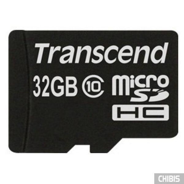 Карта памяти Transcend MicroSDHC 32Gb (Class 10) no adapter TS32GUSDC10
