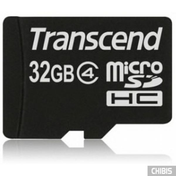Карта памяти Transcend MicroSDHC 32Gb (Class 4) no adapter