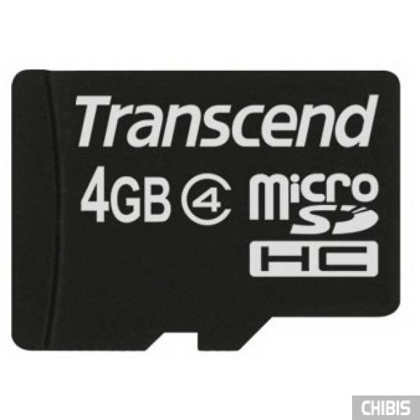 Карта памяти Transcend MicroSDHC 4Gb (Class 4) no adapter