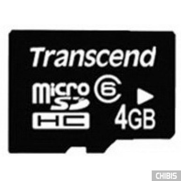 Карта памяти Transcend MicroSDHC 4Gb (Class 6) no adapter