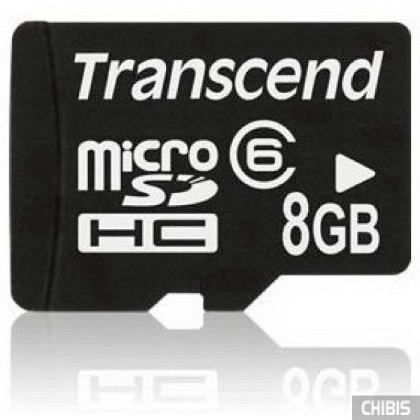 Карта памяти Transcend MicroSDHC 8Gb (Class 6)