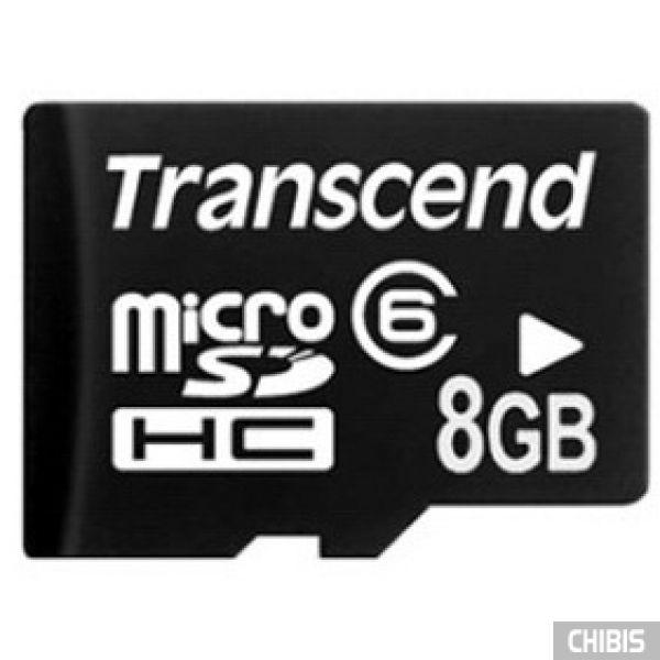 Карта памяти Transcend MicroSDHC 8Gb (Class 6) no adapter