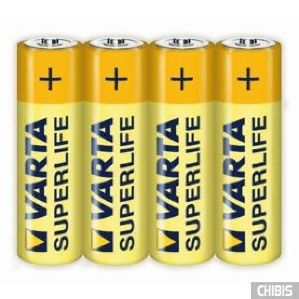 Батарейка АА Varta Superlife R06, 1.5V, Цинково-угольная 4/4 пленка 02006101304