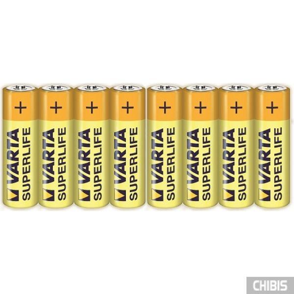Батарейка Varta AA Superlife (LR06, 1.5V, Цинково-угольная) 8/8 пленка 2006101308