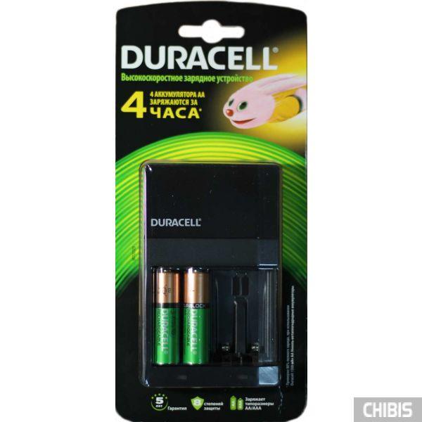 Зарядное устройство для аккумуляторов АА и ААА Duracell CEF14 и два аккумулятора АА 1300 мА/ч в комплекте