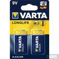 Батарейка Крона Varta Longlife Extra 6LR61 9V Alkaline блистер 2/2 шт.