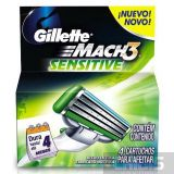 Gillette Mach3 Sensitive лезвия для станка 4 шт. 7702018037896