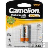 Аккумуляторные батарейки ААА Camelion 900 mAh Ni-Mh 1/2 шт блистер