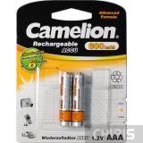 Аккумуляторные батарейки ААА Camelion 600 mAh Ni-Mh блистер 1/2 шт
