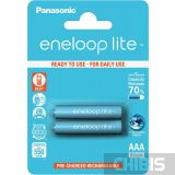 Аккумуляторные батарейки ААА Panasonic 550 mAh Eneloop Lite 2BP Ni-MH BK-4LCCE/2BE 2/2 шт