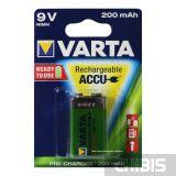 Аккумуляторная батарейка 6F22 крона 9V Varta 200 mAh 1 шт. 56722101401