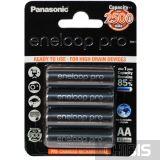 Аккумуляторные батарейки АА 2500 mAh Eneloop Pro Panasonic Ni-MH BK-3HCDE/4BE 4/4 шт
