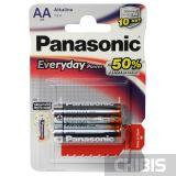 Батарейка АА Panasonic Everyday Power LR06 1.5V Alkaline блистер 2/2 шт.