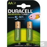 Аккумуляторные батарейки АА Duracell 2500 mAh Turbo HR6, Ni-Mh, 1.2V 2 шт.