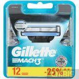 Gillette Mach3 кассеты 12 шт.