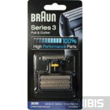Сетка Braun 30B + нож 7000 / 4000 / Series 3 / SmartControl / SyncroPro / TriControl черная