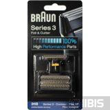 Сетка Braun 31B series 3 / 5000 / 6000 / Contour / Flex XP / Flex Integral, черная сетка и режущий нож 81387938