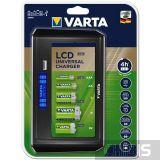 Зарядное устройство АА ААА D C 9V Varta LCD Universal Charger 57678101401