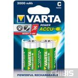 Аккумуляторные батарейки С Varta 3000 mAh 2/2 шт. блистер 56714101402