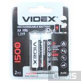 Аккумуляторы АА 1500 mAh Videx Ni-Mh блистер 2 шт