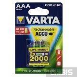 Аккумуляторы ААА Varta 800 mAh блистер на 2 шт, 56703